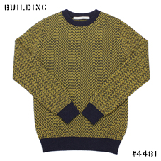JOHN LAWRENCE SULLIVAN_HERRING BORN KNIT_YELLOW×NAVY