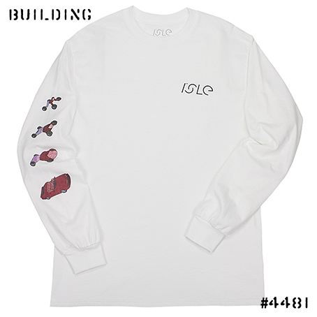 ISLE SKATEBOARDS_TURBO L/S TEE_WHITE