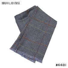 JOHNSTONS_GLEN CHECK MUFFLER_NAVY