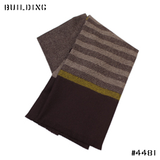 JOHNSTONS_STRIPE MUFFLER_BURGUNDY×YELLOW