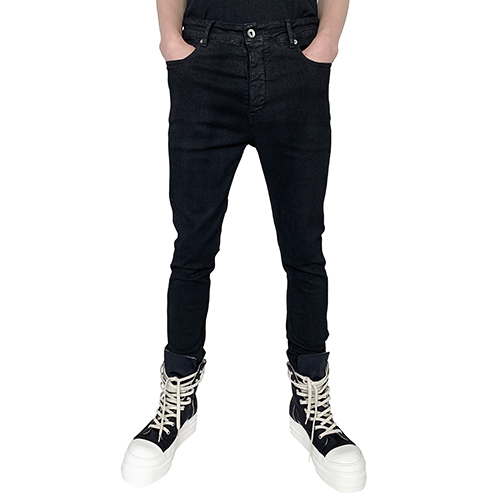 RICK OWENS DRKSHDW_SKINNY PANTS_ALL BLACK
