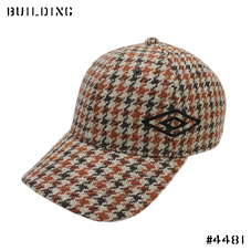 UMBRO×ELIMINATOR_CAP_BROWN HOUND'S TOOTH