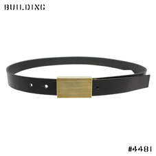 ED ROBERT JUDSON_BRASS BUCKLE BELT_BLACK×GOLD