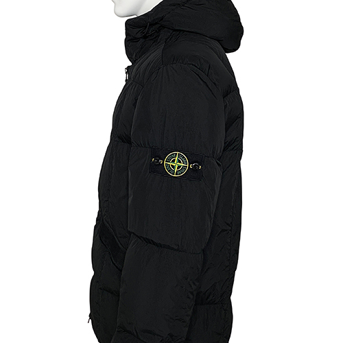 STONE ISLAND_GARMENT DYED CRINKLE REPS DOWN_BLACK