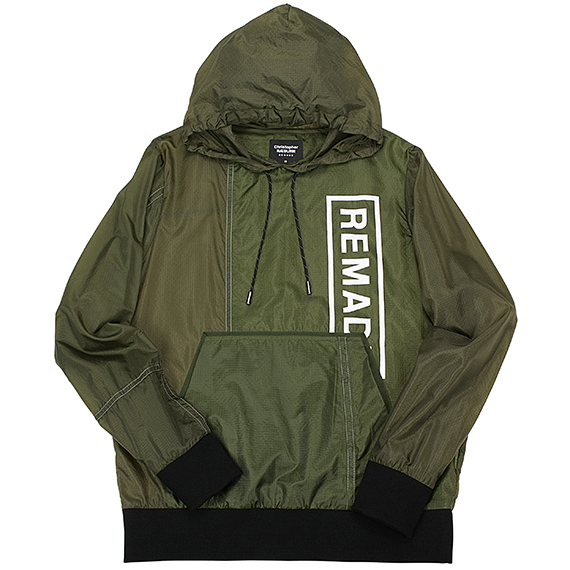 CHRISTOPHER RAEBURN_REMADE PARACHUTE HOODIE_OLIVE