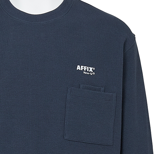 AFFIX_L/S POCKET TEE_GREY
