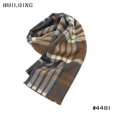 JOHNSTONS_MERINO WOOL STOLE_BROWN CHECK