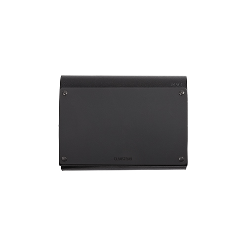 CLAUSTRUM_SMALL ARTICULAR WALLET WITH COIN_BLACK