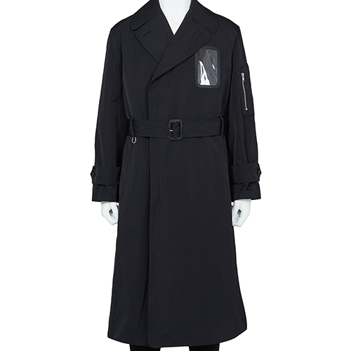 RANDOM IDENTITIES_MILITARY TRENCH COAT_BLACK