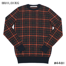 JOHN LAWRENCE SULLIVAN_CHECK KNIT_ORANGE CHECK
