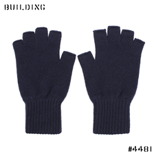 JOHNSTONS_CASHMERE KNIT GLOVE_NAVY
