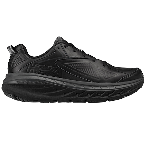 HOKA ONE ONE_BONDI LEATHER WIDE_BLACK