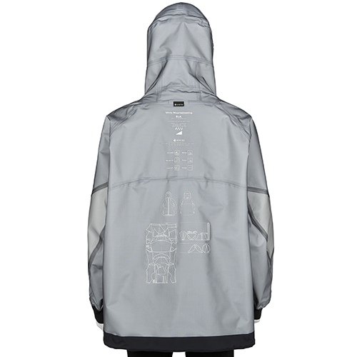 BLK WHITE MOUNTAINEERING GORE-TEX MOUNTAIN PARKA BLACK