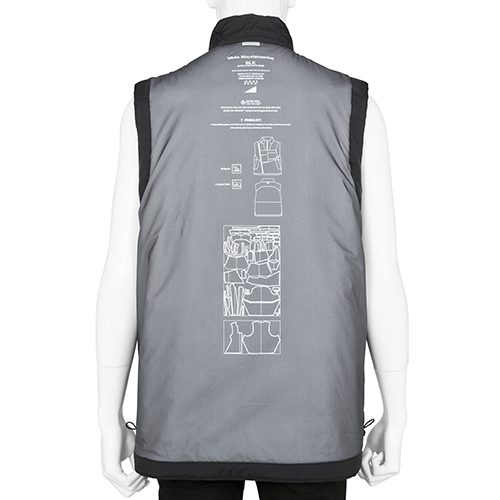 BLK WHITE MOUNTAINEERING GORE-TEX INFINIUM PRIMALOFT LUGGAGE VEST BLACK